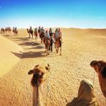 People in the Sahara desert